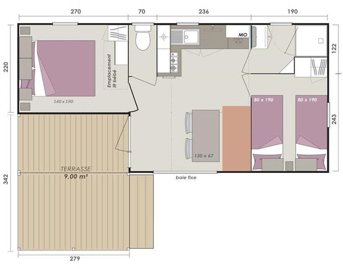 mobil-home-nature-4-personnes-plan